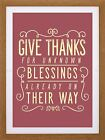 """QUOTE TYPOGRAPHY NATIVE AMERICAN BLESSINGS 12X16"""" FRAMED ART PRINT F12X9477"""