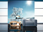 3D White Snow Tree River Sun 07 Wall Paper Wall Print Decal Wall AJ WALLPAPER CA