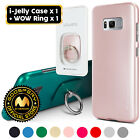For Galaxy S8 GOOSPERY® Slim i-Jelly Slim Case + WOW Ring Stand Holder Kickstand