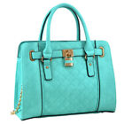 New Dasein Womens Handbags Faux Leather Satchels Tote Bag Shoulder Bags Purse <br/> 8 Different Kinds of Padlock or Top Handle Collections