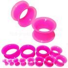 FLESH TUNNEL EAR PLUG FLEXIBLE SOFT SILICONE DOUBLE FLARED EXPANDER  4mm TO 30mm