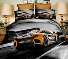 Printed 3D Luxury Duvet Covers Quilt Cover Bedding Sets cars motor bike...