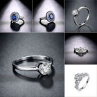 Charm Fashion Women Ladies Wedding Round Cut Solitaire Engagement Ring Jewelry