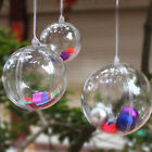 New Wedding Party Decoration Ornament Transparent Clear Plastic Bauble Candy Box