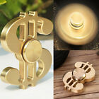 Hand Spinners Fidget Spinner Toy Golden Dollar Pattern Long time Pure Brass Gift