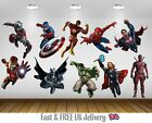 SuperHeroes Kids Bedroom Vinyl Decal Wall Art Sticker - 10 Character Selection
