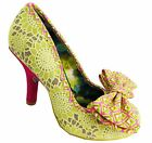 Irregular Choice Mal E Bow Pink/Yellow (AD) High Stiletto Heel Shoes
