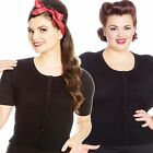 Hell Bunny Wendi Cardigan Retro Pin Up 50's Rockabilly Vintage Black