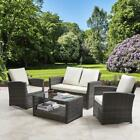 Rattan Sofa 4 Seater Garden Furniture Set Patio Conservatory