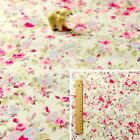 160CM WIDE PINK Fat Quarter/Meter/Square 100% Cotton Fabric Craft Sew Flowers