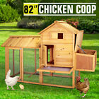 Wooden Chicken Coop Rabbit Hutch Poultry Cage Hen Duck House Pet Run Backyard <br/> 82&quot;,75&quot;,40&quot; &amp; 36&quot; Select✔FAST ship from CHI&amp;LA&amp;NJ&amp;HOU✔