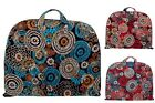 Floral Multicolor Cotton Quilted Lightwgt Garment Luggage Overnight Travel Bag