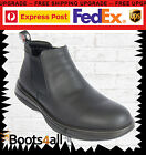 New Redback Work Boots RRBN RETRO Soft Toe Black Slip-On Chefs Bar UK SIZE