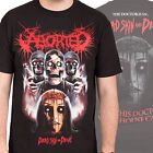 ABORTED - Dead Skin And Decay - T SHIRT S-M-L-XL-2XL Brand New Official T Shirt