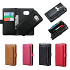 Leather Clutch Purse with Magnetic Detachable Wallet Case for Samsung S6 Edge