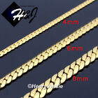 "18-40""MEN Stainless Steel 4mm/6mm/8mm Gold Miami Cuban Curb Chain Necklace*GN155 image"