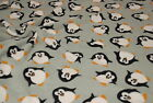 Double Sided Supersoft Cuddlesoft Fleece Fabric Material - PENGUIN GREY
