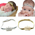 Baby Girls Princess Tiara Pearl Crystal Crown Headband Hair Band Cute Hairband
