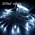 Modes Christmas Interior Lights String Solar Powered 20 30LED 3AA Battery