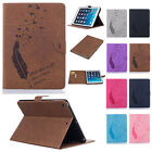 Feather Patterned Leather Folio Protection Soft Case Cover For iPad Mini 1 2 3 4