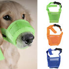 Dog Pet Mouth Bound Device Safety Adjustable Breathable Muzzle Stop Biting BA