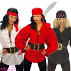 LADIES PIRATE MEDIEVAL RENAISSANCE LACE UP SHIRT FANCY DRESS COSTUME ACCESSORY
