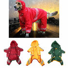 Young Doggie Pets Raincoat Waterproof Shine Shirts Clothing Rain Jackets BG
