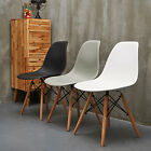 Set of 4 Mid Century Modern Eames Style DSW Dining Side Chair Wooden Leg 3 Color