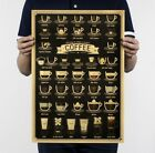 Coffee Espresso Paper Poster Picture Cafe Kitchen Decor Wall Stickers 51x36cm