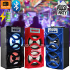 Wireless Bluetooth Indoor Outdoor Speaker Stereo Super Bass w/ USB/TF/FM Radio
