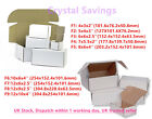 White Die Cut Folding Lid Postal Cardboard PIP Boxes Small Parcel Shipping 4U