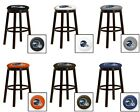 "DENVER BRONCOS HELMET NFL  24"" & 28"" ESPRESSO WOOD METAL GAME MAN CAVE BAR STOOL"
