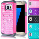 Hybrid Rubber Giltter Bling Crystal Case Cover for Samsung Galaxy S7 / S7 Edge