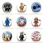 9-45PCS Cute Cartoon Buttons Round Pins Brooch Badges 30mm Kids Party Best Gift