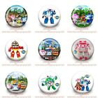 9-45PCS Robocar Poli Buttons Round Pins Brooch Badges 30mm Kids Party Best Gift