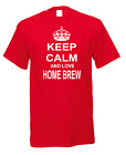 Keep Calm And Love Home Brew Beer Wine Cider Spirits Kit Demijohn T-shirt