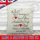 Personalised Best Friends Wedding Day Anniversary Gift Linen Textured Cushion
