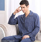 Blue Frame Cotton 2PCs Male's Casual Clothes Sleepwear/ Pajama Sets L/XL/2XL/3XL