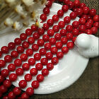 Natural Red Coral Gemstone Round Loose Beads 16'' 2mm 3mm 4mm 5mm 6mm 7mm 8mm