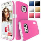 Slim Dual Protection Shockproof Rugged Soft Armor Case Cover For Samsung Galaxy