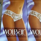 White briefs with lacey frill panel by Wolbar. S,M,L