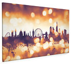 London England Skyline Cityscape Box Canvas and Poster Print (2586)
