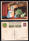 1943 Portugal Christmas Postcard Stationery PPC Unused #61. Toys in Fireplace.