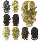 Claw Thick Wavy Curly Pony Tail Long Layered Ponytail Clip In On Hair Extensions