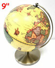 Rotating Rolling Vintage Illuminated Educational Globe World Map All Sizes Large