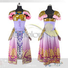 Hot The Legend of Zelda Princess Zelda Dress Cosplay Costume Customized