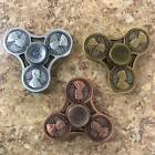 Tri Fidget Finger Spinner Gyro Desk Hand Toy Metal Penny Cent Coin Copper Silver