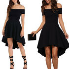 Black Summer Women Short Sleeve Evening Party Casual Cocktail Short Mini Dress