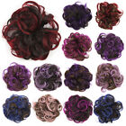 Multicolours Synthetic Flexible Scrunchie Wavy Curly Hair Bun Wrap For Ponytail