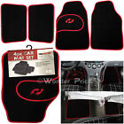 4 Piece Front And Rear Black Car Mat Carpet Set Non-Slip Grip Universal Van Mats